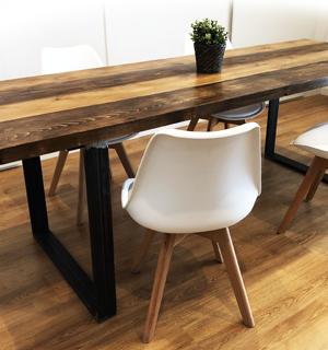 Tavolo industrial in legno massello